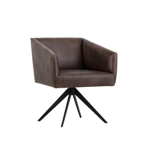 ROMEO SWIVEL DINING CHAIR BROWN