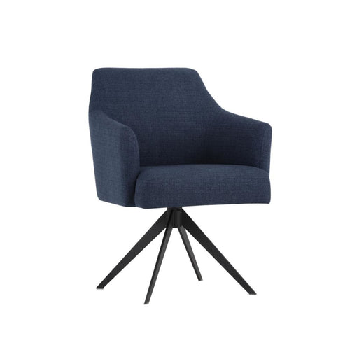 SERAFINA SWIVEL CHAIR BLUE