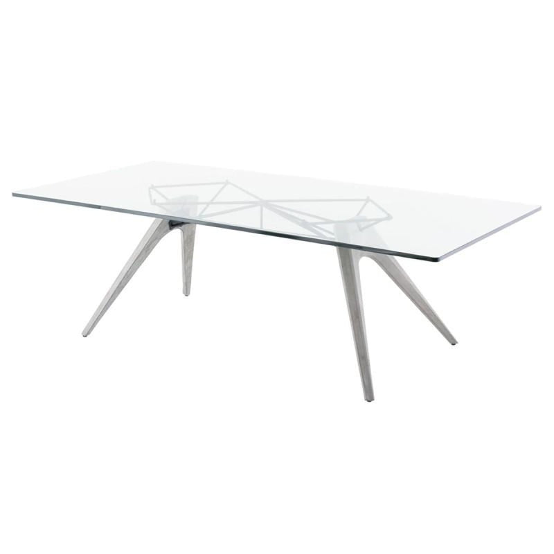 SOLOMON DINING TABLE CLEAR - DINING TABLE