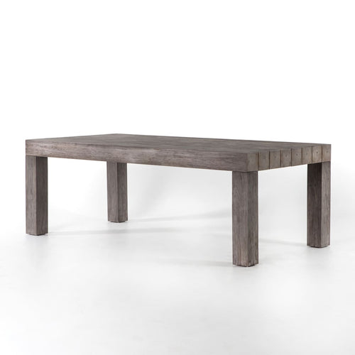 SUNORA TEAK DINING TABLE: Weathered Grey Teak
