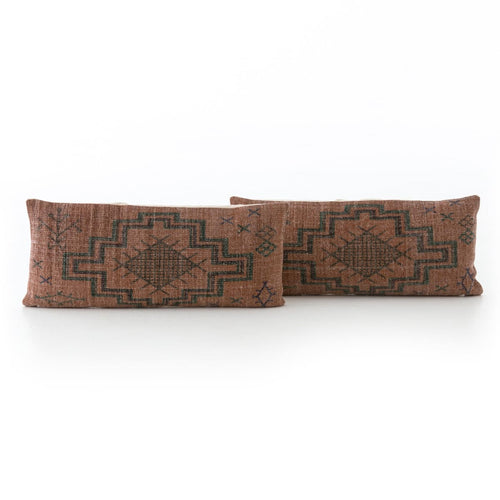 TRIBAL RUST LUMBAR PILLOW, SET OF 2