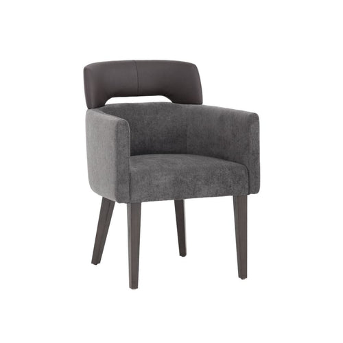 TRISTIN ARMCHAIR - KOHL GREY FABRIC - dining chair