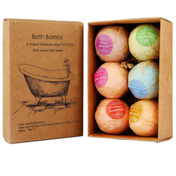 6 Pcs Organic Bath Bomb set - Natural Essences