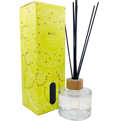 Reed diffuser- Lemongrass, Lime & Ginger - Natural Essences