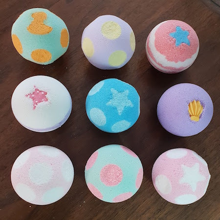 Colourful Dotted Bath Bombs