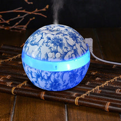 Blue & White Ultrasonic Humidifier Air Humidifier Aroma  Diffuser Aromatherapy - Natural Essences