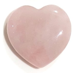 Crystal Puff Heart ROSE QUARTZ - Natural Essences