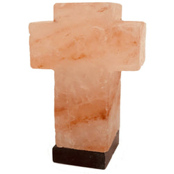 Cross- Carved Himalayan Salt Lamp - Natural Essences