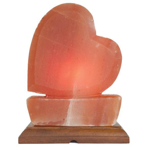 Large Heart - Carved Himalayan Salt Lamp - Natural Essences