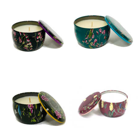 Mini Floral Tin Candles - Natural Essences
