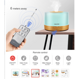 500ml Remote Control Aroma Diffuser Ultrasonic Air Humidifier - Natural Essences