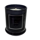 Danube Large Flat Lid Transparent Black Candles - Natural Essences