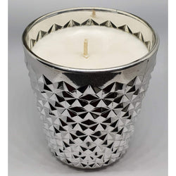 DIAMOND X-LARGE SILVER CANDLE - Natural Essences