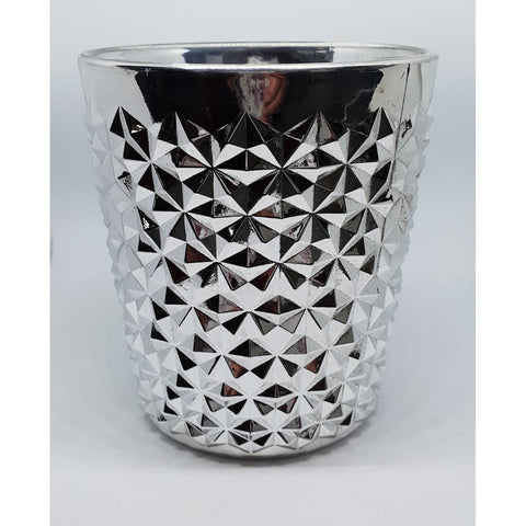 DIAMOND X-LARGE SILVER CANDLE