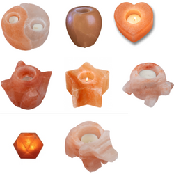 Himalayan Salt Tealight Holders (Various shapes) - Natural Essences