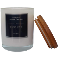 Soy Candle - White Glassware - Natural Essences
