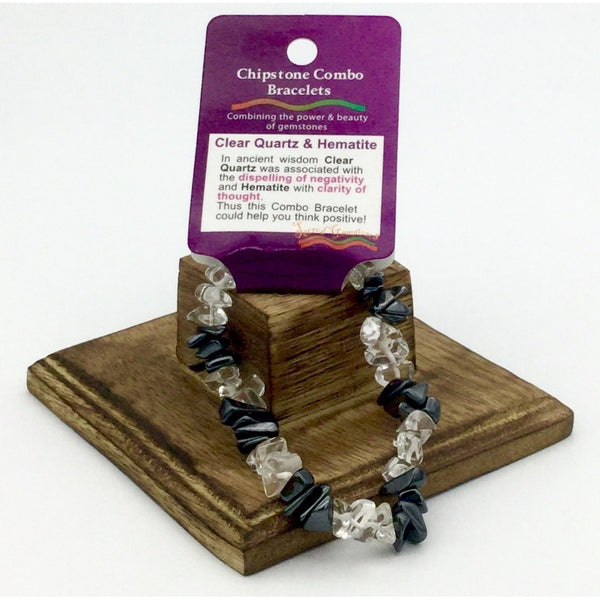 Crystal Chip Combination Bracelets - Various Available - Natural Essences