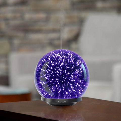 GALAXY Ultrasonic 3D Glass Diffuser [200ml | 16hrs] - Natural Essences