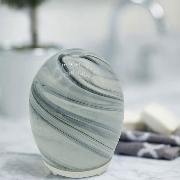 MARBLE Ultrasonic Handmade Glass Diffuser [100ml | 6+hrs] - Natural Essences