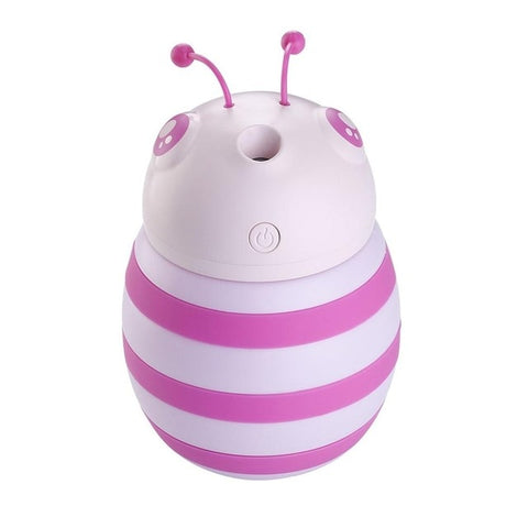 Bee Shape LED Air Humidifier Air Purifier / Essential Oil Purifier Mini Night Light - Natural Essences