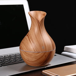 Nebulizer USB Electric Steam Humidifier Aroma Essential Oil Diffuser Wood Grain - Natural Essences