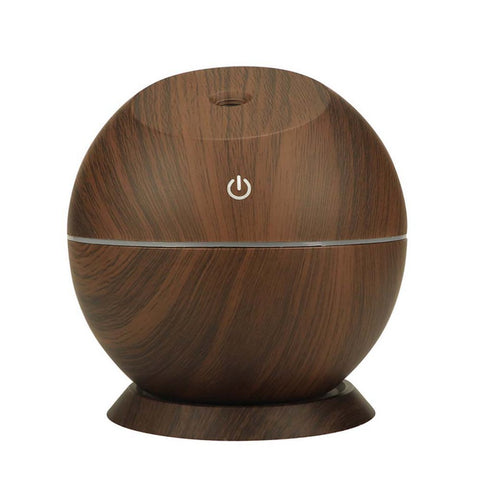 Ultrasonic Aroma Diffuser Humidifier Wood Grain Colorful Light, Creative Air Purifier - Natural Essences