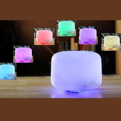 7 Color Change Ultrasonic Aromatherapy Diffuser 500ml | 16+hrs - Natural Essences
