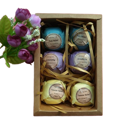 6pcs Bath Bomb Three Scents Natural Handmade - Natural Essences