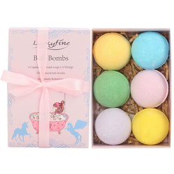 6Pcs Organic Bath Bomb Balls - Natural Essences