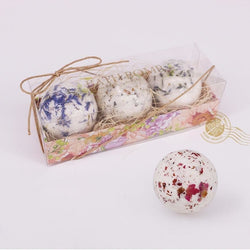3pcs Romantic Salt Bath Bombs - Natural Essences