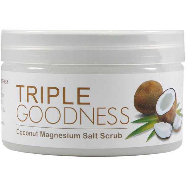 Triple Goodness - Coconut Magnesium Salt Scrub (250g) - Natural Essences