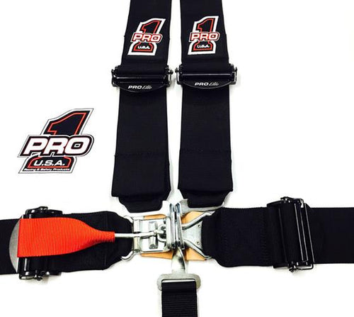 Pro 1 5-Pt Latch & Link Pull Down Harness w-Pro Elite Adjusters