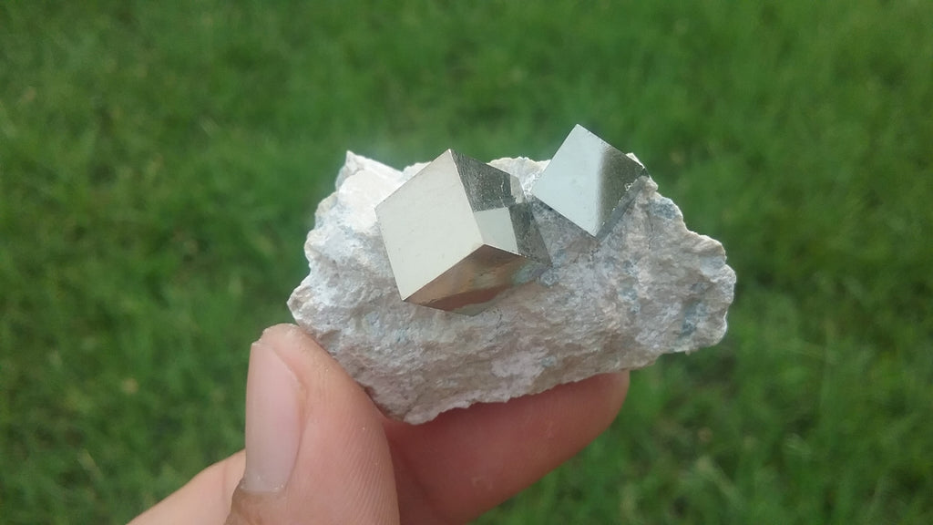 Large Iron Pyrite perfect Cube in matrix