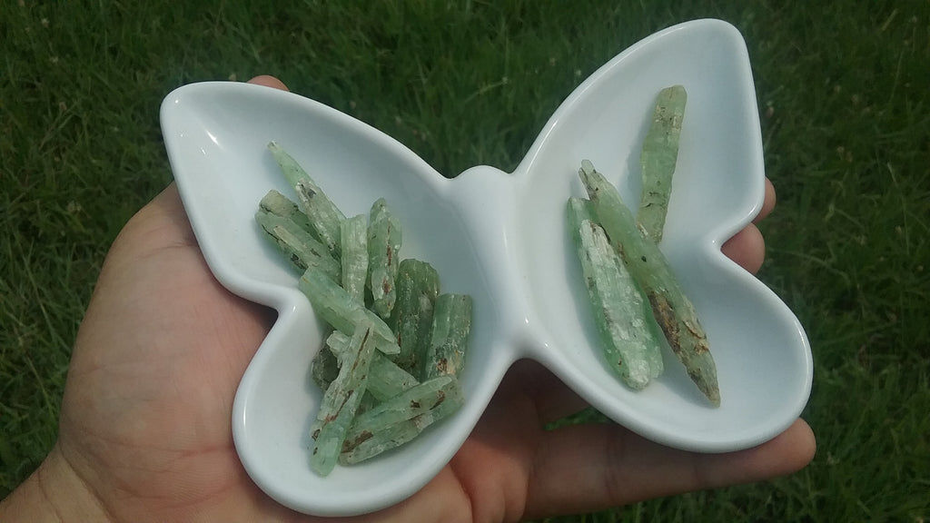 Green Kyanite crystal two sizes available
