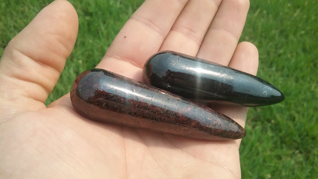 Polished Garnet Massage Tool from India
