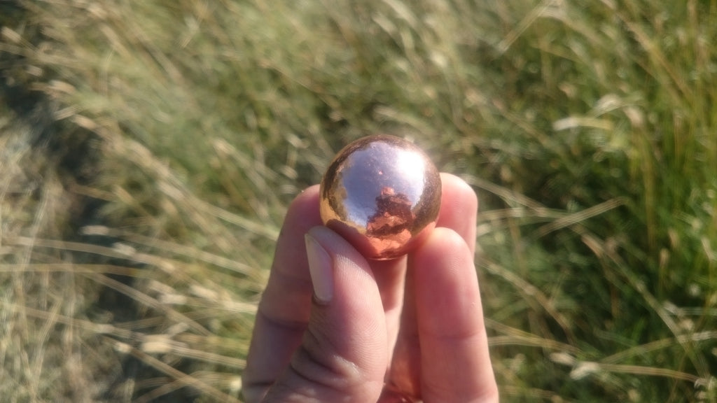Pure Copper Solid Sphere 30mm