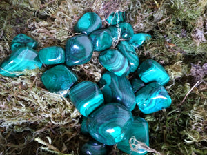 Malachite Tumbled Stones from Congo