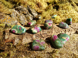 Ruby in Zoisite Tumbled Stones