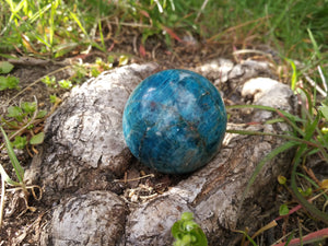 Blue Apatite Sphere - Crystal Ball