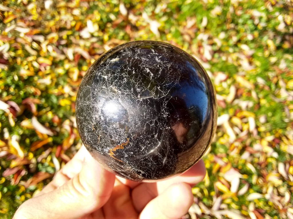 Black Tourmaline Crystal Sphere 60mm