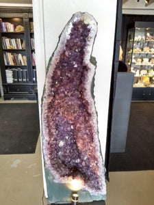 Light Purple Amethyst Cathedral 4ft tall Crystal Large Self Standing Geode