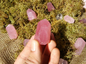 Rose Quartz Mini Towers at buyhealingcrystals.com