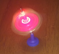 Gyroscope on a string, music and light.