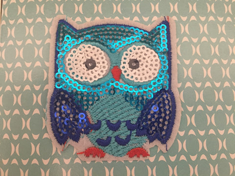 Owl Embroidered Iron On Patch, Fox Applique embroidered patch, Fox patch, cute owl