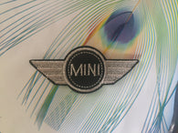 Mini cooper Embroidered Iron On Patch, mini cooper patch, Mini cooper logo