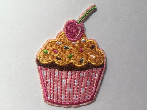 Cupcake patch, cupcake Embroidered patch, dessert iron on patch, cupcake iron on patch, kids patch