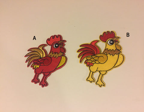 Chicken iron on patch, animal patch, chicken clothes patch, colorful animal patch