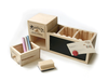 Wooden Desktop Organizer with drawers and blackboard