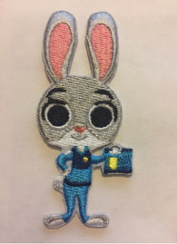 Zootopia embroidered Iron On Patch, cartoon Iron On Patch, Judy the Rabbit