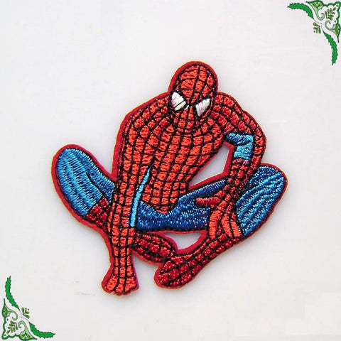 Spider-Man embroidered patches, spiderman iron on patch, spider man patch